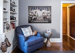 New England Patriots Super Bowl Champs Mural